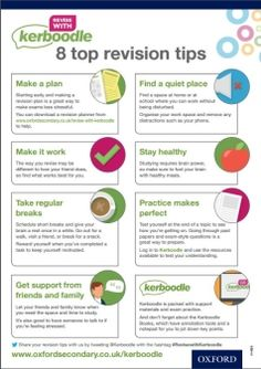8 top revision tips Exam Revision, Revision Tips, How To Stay Healthy, How To Plan, Top, Crop Shirt, Shirts