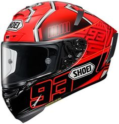 Shoei Marquez4 X-14 Sports Bike Racing Motorcycle Helmet - TC-1 / X-Small. Aerodynamic properties are maximized through extensive wind tunnel testing and professional riders' feedback. Dual-Layer Multi-Density EPS liner enhances impact absorption and ventilation. Four shell and five EPS liner sizes present increased fit options that help to comfortably fit most head sizes. Impact absorbing EPS liner throughout the entire chin bar with Cheek Pad Cooling System. Standard Rear Flaps can be...