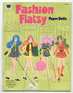 Flatsy Paper Dolls 1971 Cut Mod Era