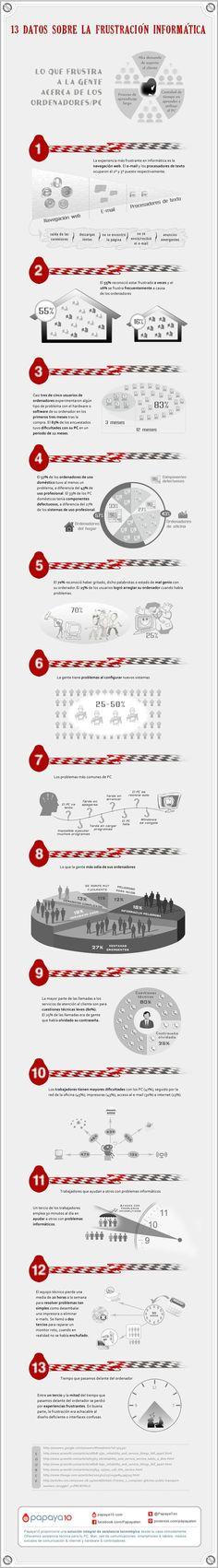 #Infografia Principales Frustraciones Informáticas