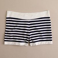 cashmere striped shorts? yes please.
