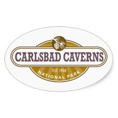 Carlsbad Caverns National Park Oval Sticker - This New Mexico Park has 117 caves, the longest of which is over 120 miles long. The Big Room is almost 4,000 feet long, and the caves are home to over 400,000 Mexican Free-tailed BatsCapitol.http://www.zazzle.com/cdandc #nationalparks #carlsbadcaverns #newmexico #vacation #nationalpark #gifts #souvenir #sticker