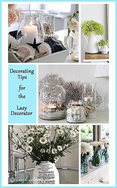 Sometimes decorating can feel hard and difficult, when it should be fun and easy.I love these decorating tips: they are all so doable and easy. I feel like fluffing with some flowers now....