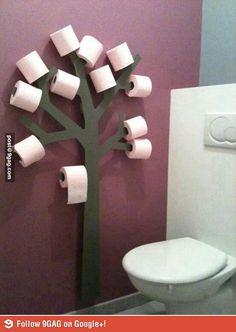 Toilet roll tree