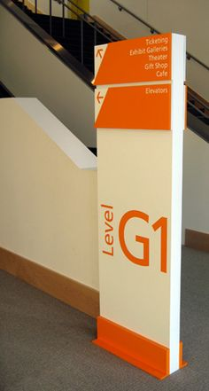 #Signage in orange and white: From pentagram