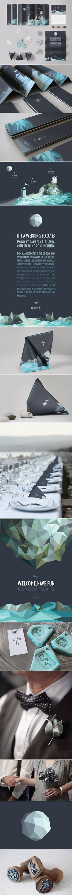 THE KORONI WEDDING. This is beautiful as well as clever #wedding #invitation #packaging