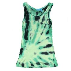Tie-Dye Tank Green and navy blue tie dye tank. Super stretchy comfortable material. Survival Tops Tank Tops
