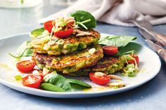 This quick and easy vegetarian fritters are ready in just 30 minutes.