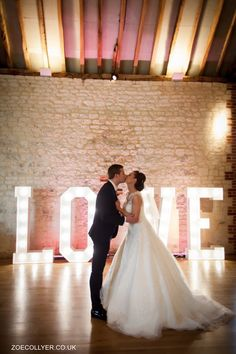 Light Up Letters by Mighty Fine Entertainment at Bury Court Barn.