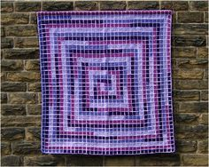 3d illusion afghan block pattern | The afghan shows where the 49th triangular number and 35th square ...