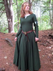 Image of Custom Medieval Gown Princess Dress Wool/Linen LARP gown