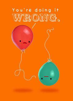 Strange Balloon justWink Birthday card
