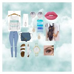 """""""Cloud 9"""" by frania-hernandez on Polyvore featuring Glamorous, TravelSmith, Nanette Lepore, Lucky Brand, Sole Society, Kate Spade and Lime Crime"""