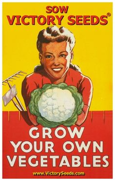 """A great WWII War Effort propaganda poster with a """"dig-able"""" message! Dig for Victory. Grow your own vegetables in a Victory Garden! Check out the rest of our amazing selection of WWII posters! Need Poster Mounts."""