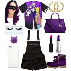 im back with more to love purple ish by xbabyxdesx on Polyvore featuring polyvore fashion style Abercrombie & Fitch Michael Kors Bling Jewelry Lipstick Queen Gorgeous Cosmetics Topshop Timberland