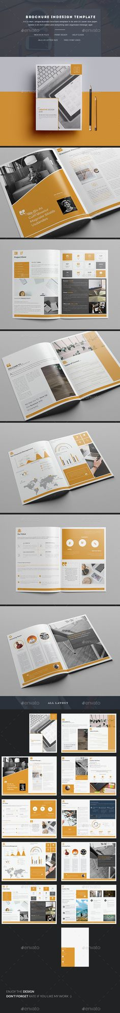 Brochure InDesign Template  — InDesign Template #triangle #modern • Download ➝ https://graphicriver.net/item/brochure-indesign-template/18521458?ref=pxcr