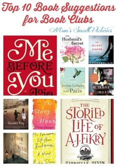 Top 10 Books Worth Reading for Book Clubs. A little drama, a little romance and books about books. Your book club will love these ideas! Book Club Books 2016, Book Of Life, Book Lists, Book Club Suggestions, Book Recommendations, Good Books, Books To Read, My Books, Good Boy Quotes