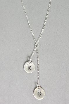 Love this 2 letter handstamped necklace   #handpicked