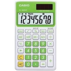 Casio Solar Wallet Calculator With 8-digit Display (green) (pack of 1 Ea)
