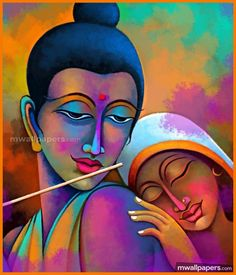 We have listed amazing radha krishna paintings alongwith portrait paintings of indian gods and goddess. If you take a look at the ancient indian paintings, they mostly portrayed the stories of gods Ancient Indian Paintings, Indian Art Paintings, Fantasy Paintings, Krishna Painting, Krishna Art, Radhe Krishna, Shree Krishna, Ganesha Art, Lord Ganesha