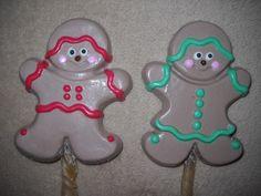 1 Dog Safe Chocolate christmas gingerman girl boy Rawhide lollipop Lollipops