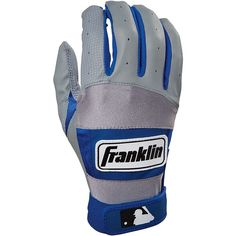 NEW Franklin Neo Fit Batting Gloves Mens Size Small 100 Series Pewter Blue Sz S #Franklin