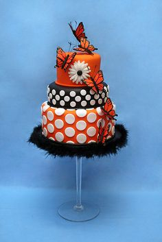 gorgeous cake with butterflies