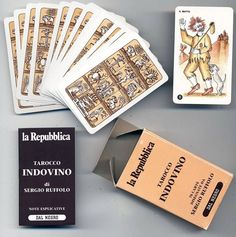 RARE Old Italian Tarot Tarocco Indovino by Sergio Ruffolo 1980 brandnew 78 Cards   eBay
