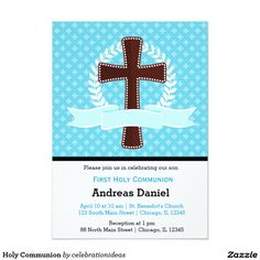 sold #HolyCommunion Card #baptism #christening Available in different products. Check more at www.zazzle.com/celebrationideas