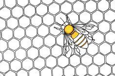 Le miel 8 x 10 par 3LeggedDogInk sur Etsy