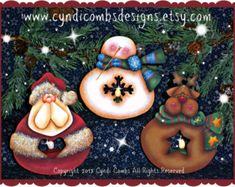 CC108 Kringle Jingles Ornaments Painting E di CyndiCombsDesigns