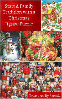 treasures by brenda christmas jigsaw puzzle family tradition