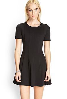 Paneled Skater Dress | FOREVER21 - 2000122703 - http://AmericasMall.com/categories/juniors-teens.html