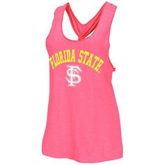 04ce80c2f83b9 Florida State Seminoles (FSU) Ladies Shake Braided Tank Top - Hot Pink