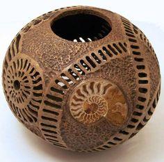 phyllis sickles gourd artist | Ammonite Gourd by Phyllis Sickles