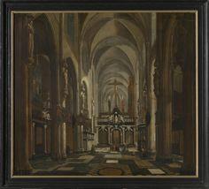 Jan Baptist van Meunincxhove: 'Interior of the former Saint Donatus Church in Bruges', Groeninge Museum, Bruges