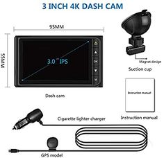 AWESAFE Dash Cam 4K with GPS Ultra HD in Car Camera: Amazon.co.uk: Electronics Dvr Camera, Wireless Home Security Systems, Old Video, Dashcam, Power Cable, Sd Card, Car Ins, Electronics, Amazon