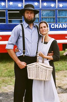 Under Amish tradition, men no longer cut their beards after they're married.