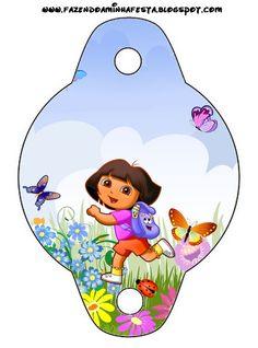 Dora the Explorer: Invitations and Free Party Printables. Diego Go, Dora Diego, Birthday Favors, Birthday Party Invitations, Party Printables, Straw Decorations, Dora And Friends, Oh My Fiesta, Dora The Explorer
