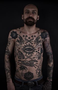 Meditations in Atrament - Tattooing, Ephemera, and Fine Art by Thomas Hooper Vintage Chest Tattoo, Vintage Tattoos, Tattoo Vieja Escuela, Lace Sleeve Tattoos, Thomas Hooper, Tatuagem Old School, Bild Tattoos, Tinta China, Beste Tattoo
