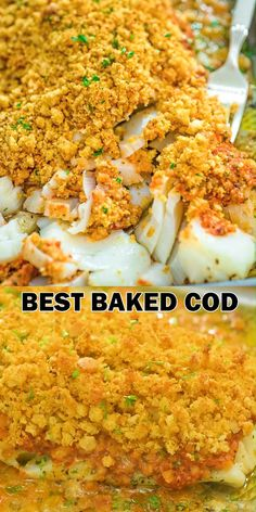 dinner recipes This Baked Cod recipe is truly the best you can find! Perfectly-seasoned cod, covered with a layer of roasted pepper sauce and topped with crispy breadcrumbs. Lunch Recipes, Easy Dinner Recipes, Easy Meals, Cooking Recipes, Healthy Recipes, Ketogenic Recipes, Baked Cod Recipes, Seafood Recipes, Salmon Recipes