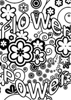 Coloriage Fleur Hippie.Resultat De Recherche D Images Pour Dessin Hippie Flower Power Noir