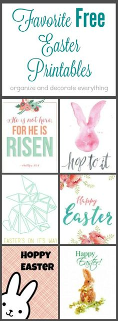 My Favorite Free Easter Printables. Just pop them in a frame and you have instant holiday decor.