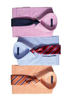 Different colors and patterns will mix and match any business professional attire for him. Just match it with a great pant and matching jacket.