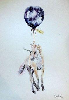 Adorable unicorn tattoo #illustration #art #unicorn