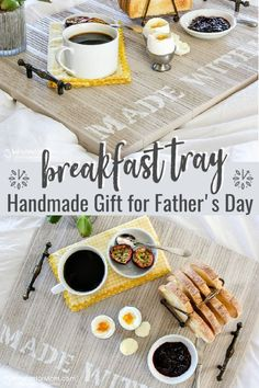 Wooden Breakfast Tray DIY - Handmade Gift For Fathers Day ad fathersday diygift 98657048075338067 Homemade Fathers Day Gifts, Diy Gifts For Dad, Diy Father's Day Gifts, Father's Day Diy, Easy Diy Gifts, Gifts For Father, Homemade Gifts, Unique Gifts, Mothers Day Crafts For Kids