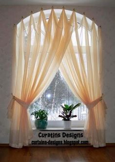 diy window treatments for arched windows