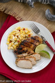 Mustard, Garlic, Lime Marinated Chicken Breasts | A winning chicken recipe for your BBQ |That Skinny Chick Can Bake