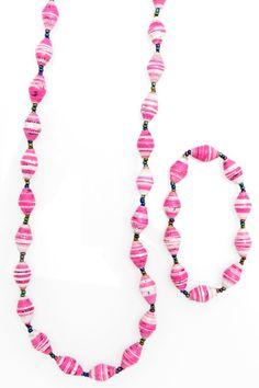 Pink & white striped 2 pc set