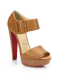 christian louboutin tennis shoes men - Christian Louboutin Tuctopen Leather Ankle-Strap Platform Sandals ...